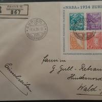 Schweiz, Doporučený list s Bl.1, katalóg (izakaja.sk)
